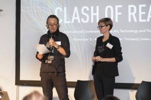 Opening of the Game Development Summit: Björn Bartholdy and Katharina Tillmanns