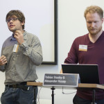 "Aleksander Husøy and Tobias Staaby talking about ""Zombies, wargames and slavery! Using computer games as a basis for ethical discussion"""