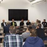 Teaching Game Studies-Summit: Game Studies Lehren an staatlichen und privaten Hochschulen. V.l.n.r: Benjamin Beil, Thomas Hensel, Stephan Günzel, Lisa Gotto, Gundolf S. Freyermuth, Judith Ackermann, Jan-Noël Thon